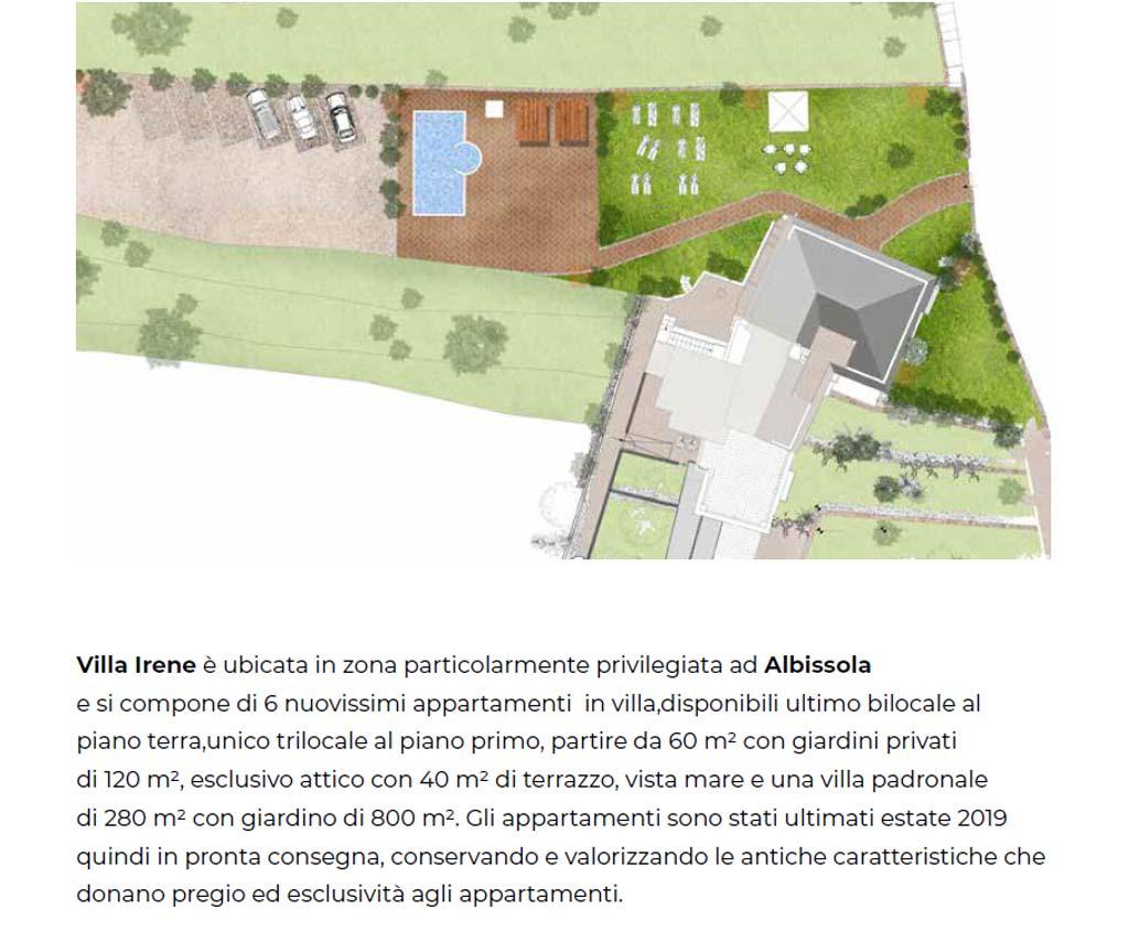 Mappa villa Irene Albisola