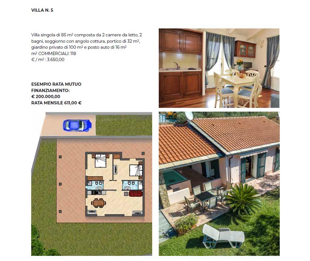 Villa singola numero 5, 85 mq