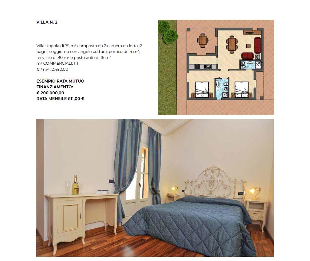 Villa singola numero 2, 75 mq