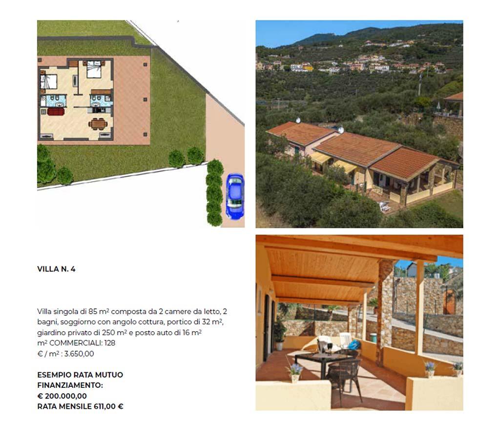 Villa singola numero 4, 85 mq