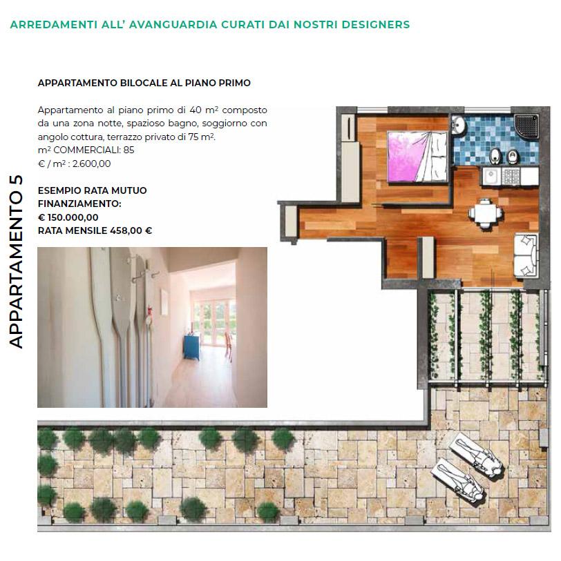 Appartamento bilocale con grande terrazzo Villa Limoni - Pietra Ligure