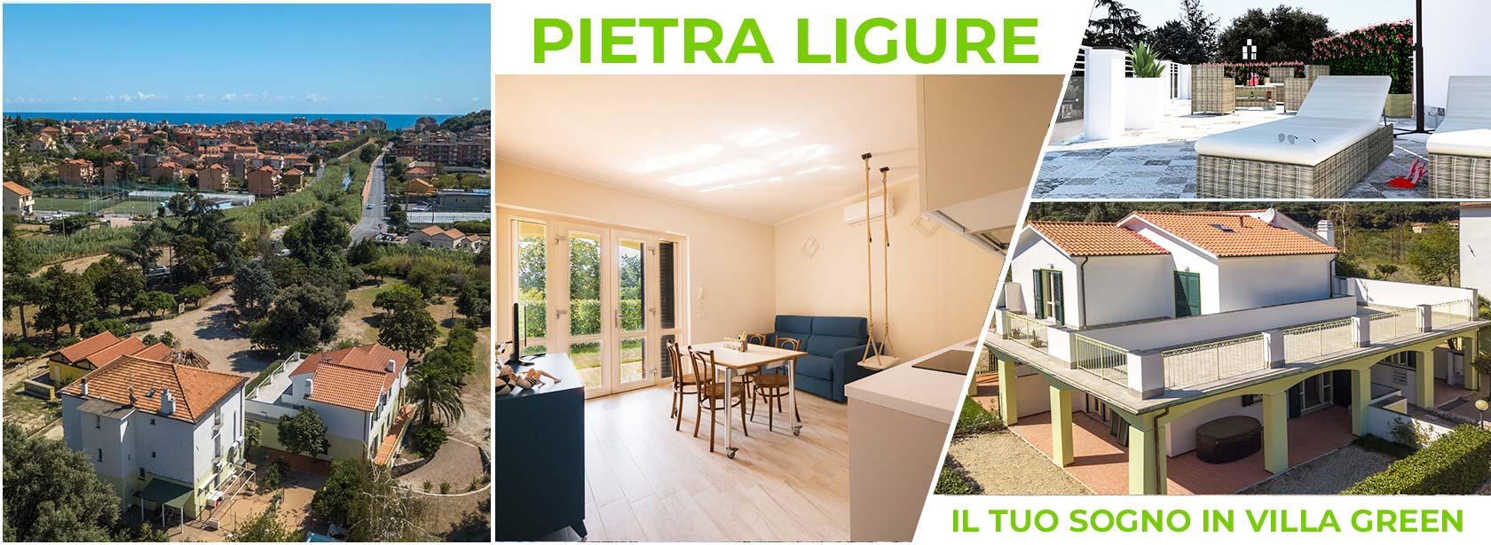 Bilocali e trilocali in villa a Pietra Ligure